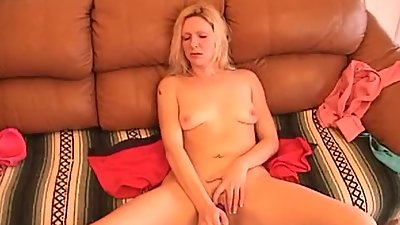 British blonde in panties fingers..