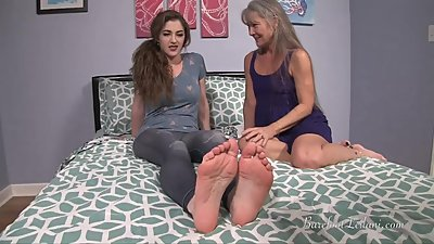 Gilf Teaching Terra Mizu Foot Worship