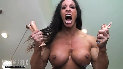 Massive She Hulk Muscle Girl Rage..