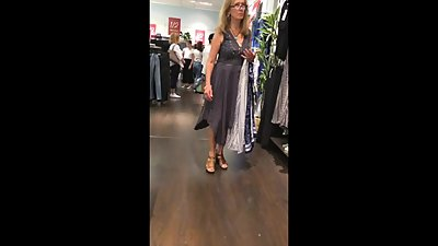 PAWG Mature Walking and Shopping