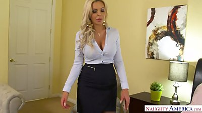 Big tits blonde MILF Nina Elle takes..