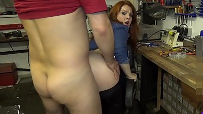 nice ass nikky takes doggy in kitchen