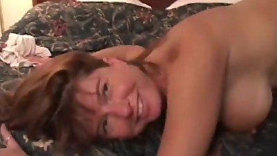 Redhead Milf Having an Orgasm on Black..
