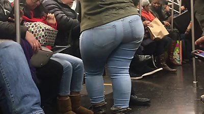 Super Wide Booty Milf on Train pt 2