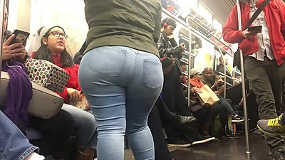 Super Wide Booty Milf on Train pt 3