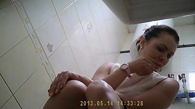 Spy cam in toilet