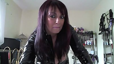 milf in pvc catsuit talking dirty
