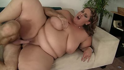 Mature BBW lady with really huge boobs..