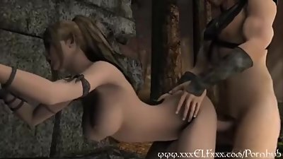 hot horny elf princess fucked hard on..