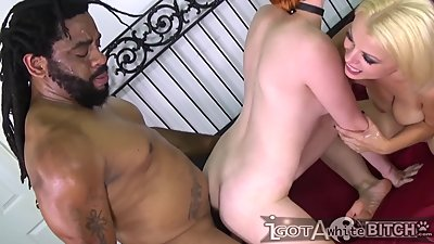 2 White Bitches pleases black cock