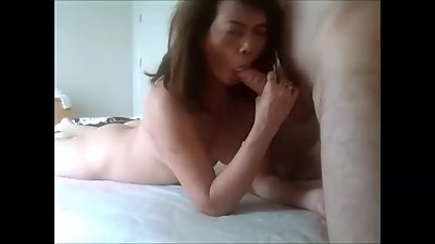Asian MILF cheats on her husband for..