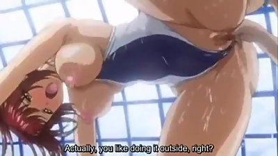 horny big tist milf hentai fuck on pool