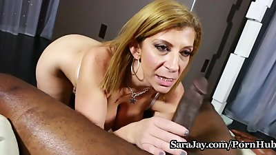 Hot MILF Sara Jay Gives POV Blowjob on..