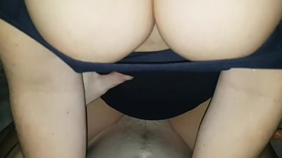 big tits Milf Rides a hard cock to a..
