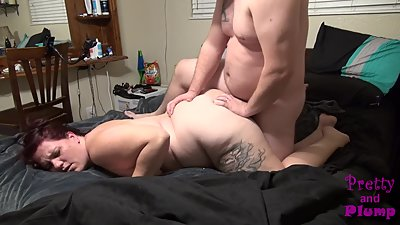 Sexy BBW Doggystyle! I Cum On That Big..