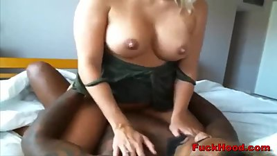 Busty Cheater MILF Enjoys Interracial..