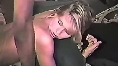 Very hot blonde wife takes huge black..