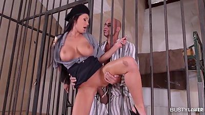 Busty Prison Guard Patty Michova Rides..