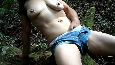 Amateur MILF Masturbates in the..