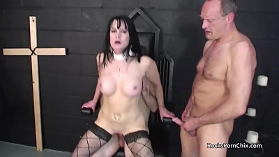 Tanya Cox gets gangbanged in Church..