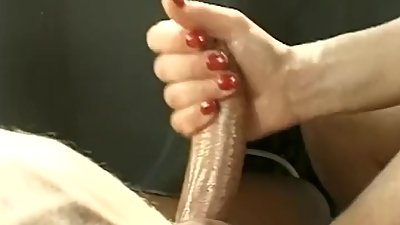 Stroking Hard Cock Is Fun For Her