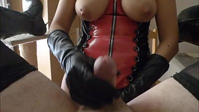 Strapon gloves handjob