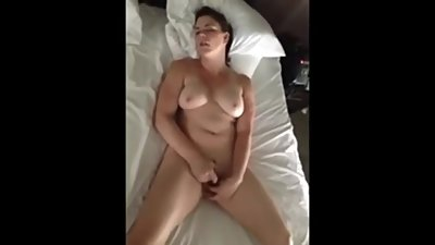 Wife masturbates to orgasm