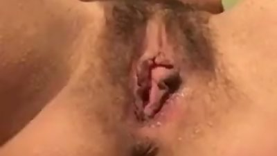 Fucking my pussy with big dildo then..