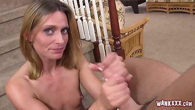 Slender Blonde Milf Giving Head