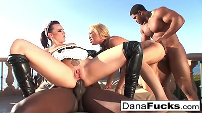 Dana the maid in a hot orgy