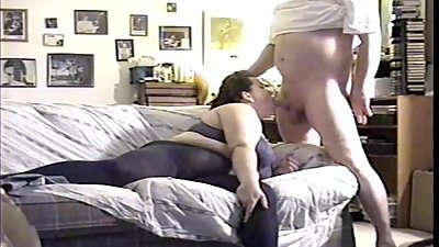BBW MILF Swallows Landlord's..