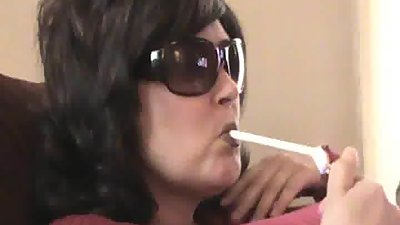 Sunglasses blowjob smoking curious