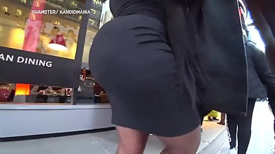 A Thick Black ass in black.