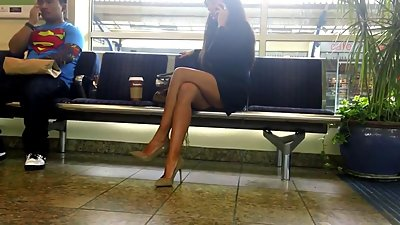 Nude Heels Black Dress
