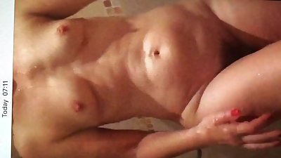 Smart tits slim MILF getting out of..