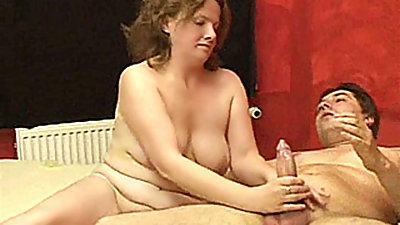 Naughty and chubby amateur housewife..