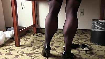 Muscular Calves In Nylons