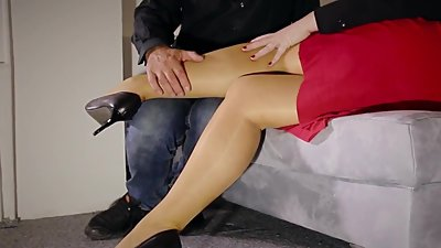 Horny Teacher milf footjob jerks..