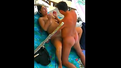Tanned husband and wife fucked..