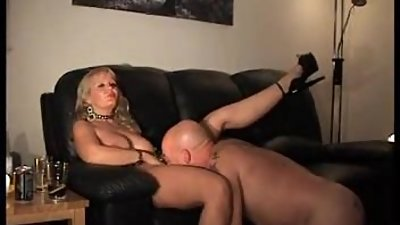He ties his lady down and plays with her
