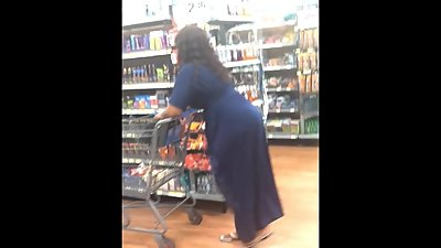Fat Ass Ebony in Blue Dress