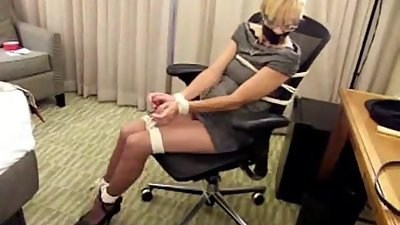 Mature MILF bound and gagged