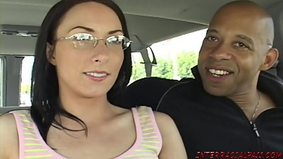 Mom in glasses fucks Blackzilla..