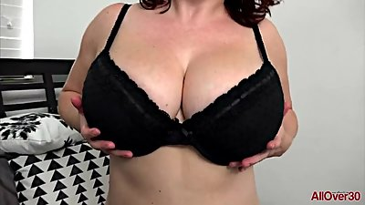 Busty Maggie G Horny MILF on..