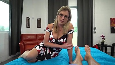 Blond milf gets creampie