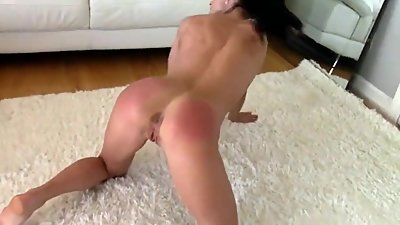 Milf gets hard punishment naked on the..