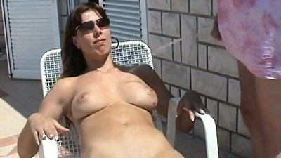 pissing on belgian milf