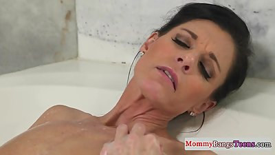 Masturbating stepmom caught in the..