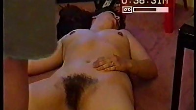 SILF wife holly showing her hairy cunt..
