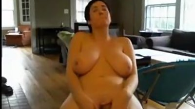 Short Haired Chubby Hottie with Big..